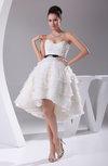 Elegant Garden Sweetheart Sleeveless Organza Ribbon Bridal Gowns