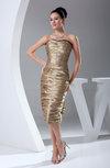 Modern Sheath Backless Silk Like Satin Tea Length Homecoming Dresses