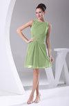 Modest A-line Bateau Sleeveless Chiffon Party Dresses