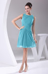 Modest A-line Bateau Sleeveless Chiffon Party Dresses