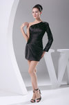 Elegant Sheath Sleeveless Elastic Woven Satin Short Graduation Dresses