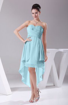 Aqua Informal A-line Sweetheart Chiffon Ruching Bridesmaid Dresses