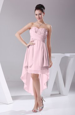 Blush Informal A-line Sweetheart Chiffon Ruching Bridesmaid Dresses