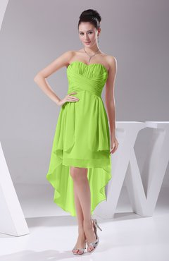 Bright Green Informal A-line Sweetheart Chiffon Ruching Bridesmaid Dresses