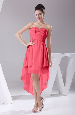 Guava Informal A Line Sweetheart Chiffon Ruching Bridesmaid Dresses
