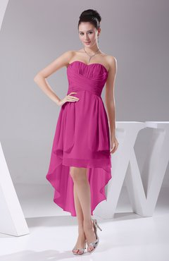 Hot Pink Color Bridesmaid Dresses - UWDress.com