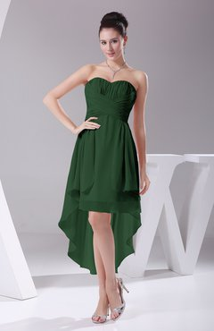 Hunter Green Informal A-line Sweetheart Chiffon Ruching Bridesmaid Dresses