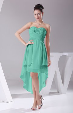 Mint Green Informal A-line Sweetheart Chiffon Ruching Bridesmaid Dresses