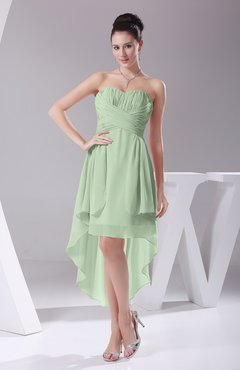 Pale Green Informal A-line Sweetheart Chiffon Ruching Bridesmaid Dresses