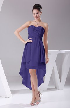 Royal Purple Informal A-line Sweetheart Chiffon Ruching Bridesmaid Dresses