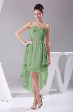 Sage Green Informal A-line Sweetheart Chiffon Ruching Bridesmaid Dresses