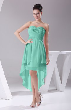 Seafoam Green Informal A Line Sweetheart Chiffon Ruching Bridesmaid Dresses