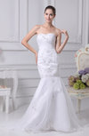 Romantic Outdoor Sweetheart Sleeveless Lace up Sweep Train Sequin Bridal Gowns