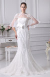 Traditional Hall Mermaid Lace up Court Train Edging Bridal Gowns