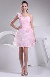 Romantic Baby Doll Asymmetric Neckline Sleeveless Short Ruching Club Dresses