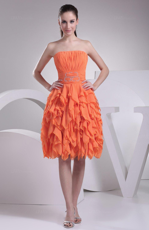 Modest A Line Sleeveless Zipper Knee Length Ruching Prom