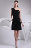 Casual A-line Asymmetric Neckline Backless Chiffon Bridesmaid Dresses