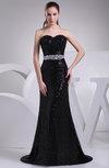 Elegant Sweetheart Zipper Brush Train Paillette Prom Dresses