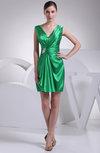Modest Sheath V-neck Sleeveless Zip up Short Club Dresses