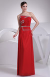 Cute Sheath Strapless Sleeveless Floor Length Ruching Prom Dresses