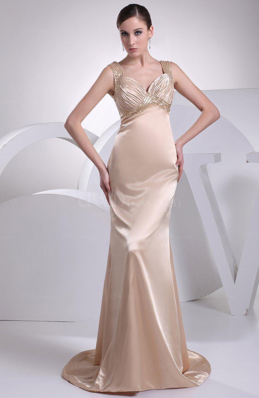 Gorgeous church zipper silk like satin court train sequin for Satin silk wedding dresses