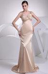 Gorgeous Church Zipper Silk Like Satin Court Train Sequin Bridal Gowns