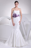 Sexy Hall Strapless Sleeveless Lace up Court Train Bridal Gowns