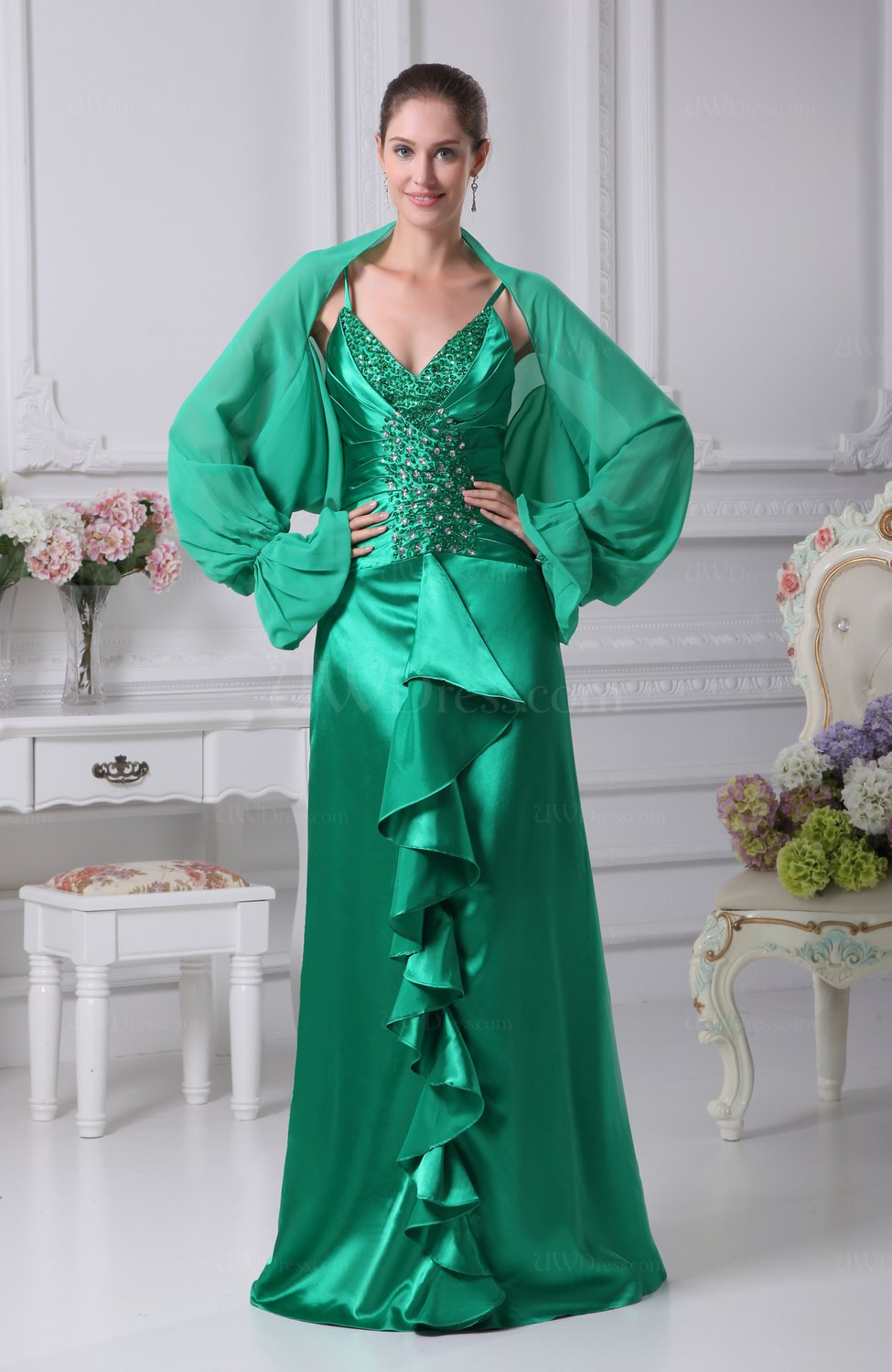 Parasailing Modern Sheath Long Sleeve Backless Silk Like Satin ...