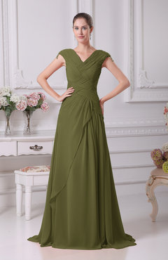Olive Green Color Bridesmaid Dresses - UWDress.com