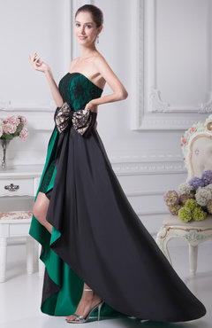Black Cute Sleeveless Backless Taffeta Mini Party Dresses