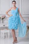 Elegant Sleeveless Chiffon Knee Length Ruching Bridesmaid Dresses