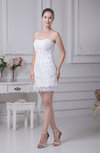 Informal Outdoor Column Strapless Sleeveless Organza Paillette Bridal Gowns