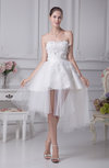 Cute Beach Baby Doll Sweetheart Sleeveless Zip up Bridal Gowns