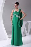 Modest Sheath Sleeveless Backless Chiffon Ruching Evening Dresses