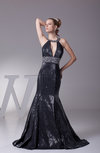 Elegant Fit-n-Flare Sleeveless Sweep Train Sequin Evening Dresses