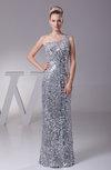 Elegant Column Sleeveless Zipper Paillette Party Dresses