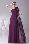 Simple Column Sleeveless Half Backless Chiffon Bridesmaid Dresses