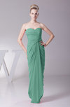 Modest Sheath Sleeveless Backless Floor Length Ruching Prom Dresses
