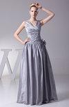 Elegant A-line Taffeta Floor Length Ruching Evening Dresses