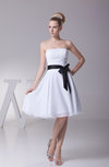 Elegant Baby Doll Strapless Sleeveless Chiffon Sash Cocktail Dresses