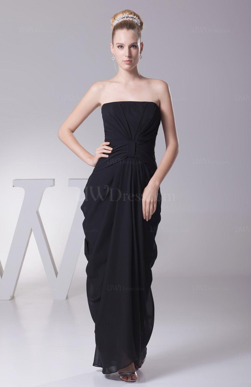 Black Elegant Column Sleeveless Zip Up Ankle Length Draped
