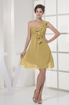 Casual A-line Sleeveless Zipper Chiffon Knee Length Bridesmaid Dresses