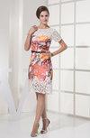 Simple Column Knee Length Sash Party Dresses