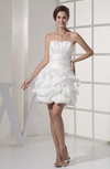 Sexy Hall Sweetheart Sleeveless Taffeta Mini Bridal Gowns