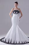 Modern Garden Strapless Sleeveless Satin Appliques Bridal Gowns