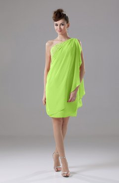 Bright Green Cute Sheath Sleeveless Backless Knee Length Cocktail Dresses