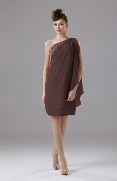 Chocolate Brown Color Cocktail Dresses - UWDress.com