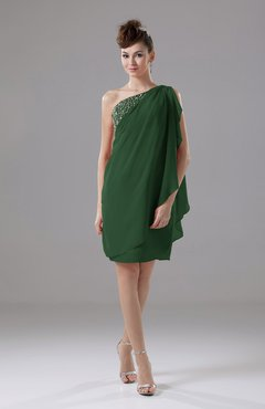 Hunter Green Cute Sheath Sleeveless Backless Knee Length Cocktail Dresses