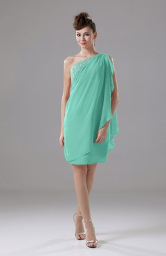 Mint Green Cute Sheath Sleeveless Backless Knee Length Cocktail Dresses