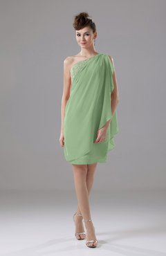 Sage Green Cute Sheath Sleeveless Backless Knee Length Cocktail Dresses